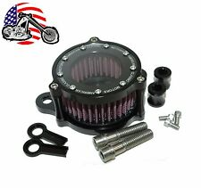 Black Billet Air Cleaner Kit Intake Filter Harley Sportster Stage 1 High Flow