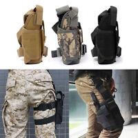 Airsoft Tactical Military Pistol Gun Drop Leg Thigh Holster Pouch Bag Right Hand