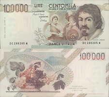 """100.000 lire 1986 """"Caravaggio"""""""