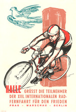 Peace Race 1960 Vintage Bicycle Poster