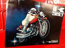 1972 KAWASAKI S2 350 TRIPLE MOTORCYCLE Brochure Printed Japan Original
