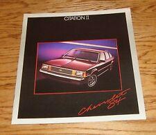Original 1984 Chevrolet Citation II Sales Brochure 84 Chevy