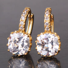 beautiful mothers day birthday gift Women Ladies square Gold filled Earrings
