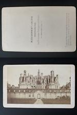 Mieusement, France, château de Chambord Vintage albumen print CDV.  Tirage alb