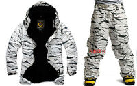 SOUTHPLAY Winter Premium White Camo Military Ski-Snowboard Jacket + Pants SET