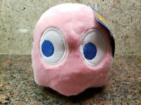 NEW Ms Pac-Man Pink Pinky Ghost Plush Toy Stuffed Doll Figure Pacman Arcade Game