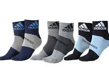 3x Pairs Unisex Men Women Adidas Running Lite Ankle Thin Ankle Cotton Socks 6-11