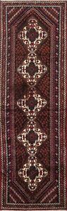 Geometric Traditional Oriental Runner Rug Handmade Wool Carpet 2' 8'' x 9' 10''