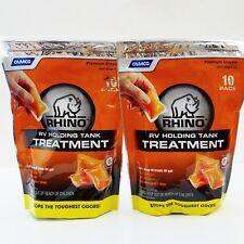 Rhino 41519 RV Holding Tank Treatment 20Pcs Odor Eliminator RV Toilet Treatment