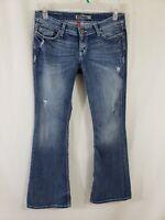 Buckle BKE Sabrina Stretch Womens Denim Blue Jeans Sz 27 x 31 1/2 Boot Cut Med