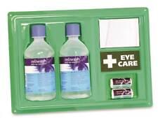 Emergency  Eye Wash Station Wall Panel  +mirror + dressings x 2 bottles, FACTORY