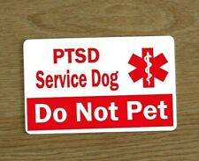 PTSD Alert Service Dog Card, Awareness Card,Service Dog Vest Card, PTSD Tag
