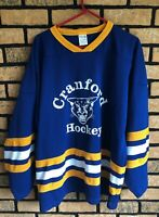 Cranford Cougars New Jersey Hockey Club Blue #9 Sports Adult Jersey (XL)
