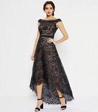 b75b93b18e55 Tadashi Shoji Black off The Shoulder Hi Low Formal Gown Dress Size 10