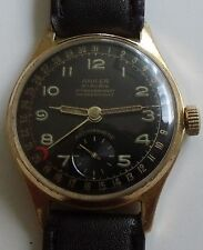 VERY RARE- ANKER -DATA- GOLD PLATED-20 MIKRONA- WATCH MEN,S