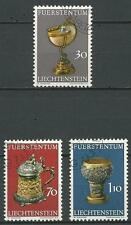 Liechtenstein Mi.Nr. 587-589 (1973) gestempelt/Schatzkammer des Fürstenhauses