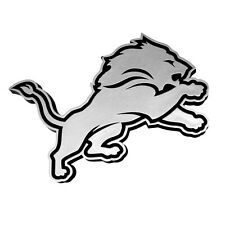 DETROIT LIONS CAR AUTO 3-D CHROME SILVER TEAM LOGO EMBLEM NFL FOOTBALL