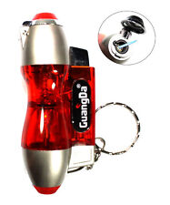Red Hourglass Transparent Key Chain Single Flame Refillable Torch Lighter