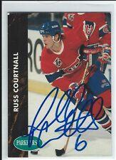 Russ Courtnall Signed 1992/93 Parkhurst Card #308