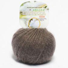 Adriafil Carezza Angora Aran Yarn / Wool 25g - Brown (87)