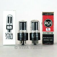 Tests NOS Matched Pair RCA 6K6GT Wide Grey Plate [] Get Tubes