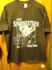 BRUCE SPRINGSTEEN ~LRG~ Devil's & Dust TOUR 2005 ~ Concert Dates on Back T Shirt