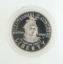 PROOF 1989-S Congress Bicentennial US HALF DOLLAR Commemorative Congressional