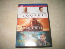 Looper / Riddick / Source Code (DVD, 2015, 3-Disc Set Canadian) - Triple Feature