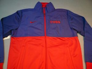 Nike MLB Chicago Cubs MEDIUM BRAND NEW Jacket Track 1.7 zip up Baseball CHI Town