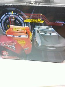 Disney Pixar's CARS TIN LUNCH BOX 24 Pieces puzzle NEW IN PKG Lightening & Storm