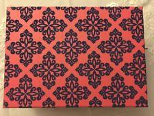"Floral Velvet Red Gift Storage Box Decorative Organizer Home Decor 11.8""x8.9x4.3"