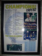 Leeds United League Champions 1991-92 - framed print