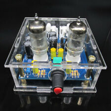6J1 AC12V Valve Pre-AMP AMPLIFICATORE PER CUFFIA TUBO Board + Custodia Acrilico FAI DA TE KIT