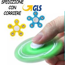 FIDGET SPINNER 5 PUNTE GIOCO RILASSANTE CUSCINETTO 3D ANTI STRESS TASCABILE t1