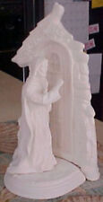 """Christ Knocking on the Door 11"""" Ceramic Bisque, Ready To Paint"""