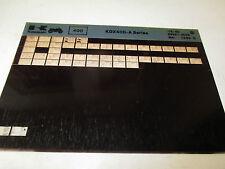 Kawasaki KDX400 - A Series Parts List Micro Fiche