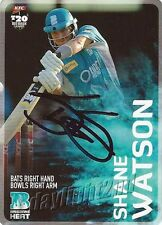 ✺Signed✺ 2014 2015 BRISBANE HEAT Cricket Card SHANE WATSON Big Bash League