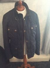 Barbour Paddock Blue Lightweight Quilted Jacket Coat Tartan Check Lined UK large