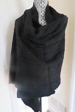 Thick Portolano Large Black Cashmere Cabled Wrap - $508 – NWT