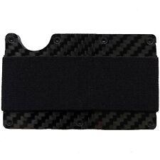 Carbon fiber styled Minimalist wallet. Slim Design. Nylon band to hold money.