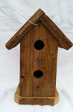 """Rustic Amish Crafted """"Tall Double Hole"""" Birdhouse - Lancaster Cnty - PA"""