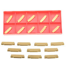 New 10pcs MGMN200-G 2mm Carbide Insert for MGEHR/MGIVR Grooving Cut-off Tool