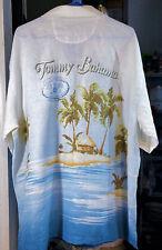 "Tommy Bahama L Linen short sleeve Shirt RARE ""RETURN TO PARADISE"""