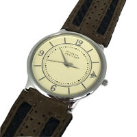 Silpada Designs Mens Watch Ivory Color Round Dial Stainless Steel Quartz