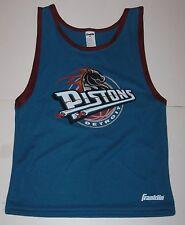 M Youth Franklin Detroit Pistons Teal Basketball Jersey VTG medium Polyester EuC