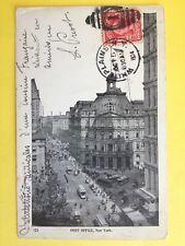 CPA Old Postcard de 1904 USA NEW YORK POST OFFICE à Mr J. CONTURIE de PARIS