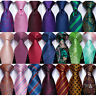 USA 100 Pattern Mens Silk Tie Necktie Set Red Purple Blue Green Pink Wedding