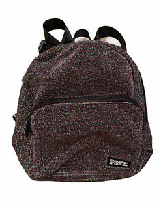 Victoria's Secret PINK Mini Backpack Rainbow Metallic Thread