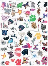 100 x Assorted Kids Temporary Tattoos -  Bulk Party Favours