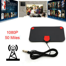 Thin HDTV Freeview Indoor Amplified Digital TV Aerial Antenna 50 Mile 1080P